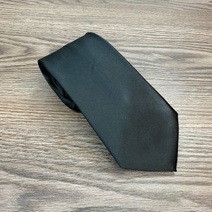 Jones New York Solid Black Satin Tie